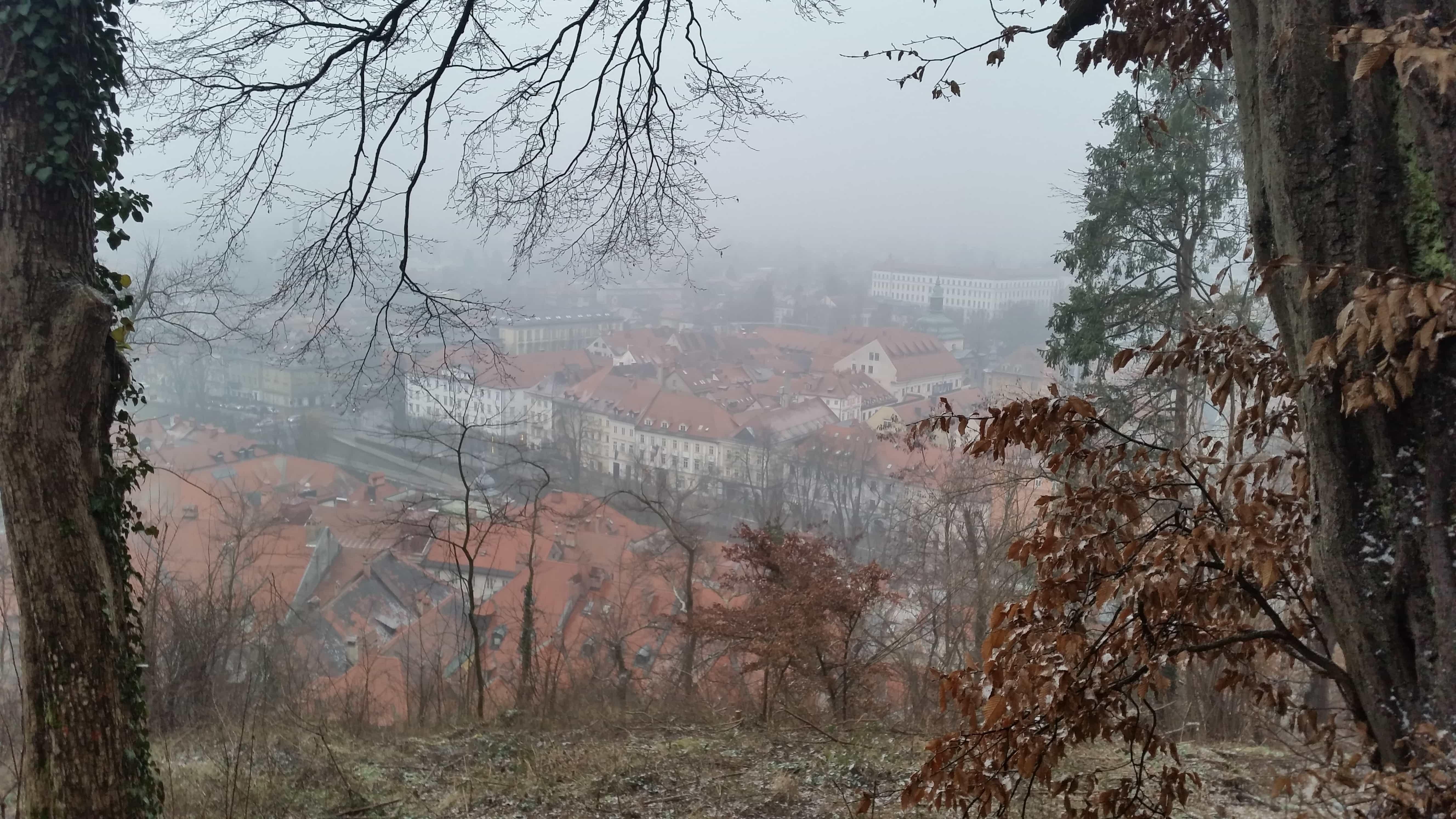 castle view in Ljubljana