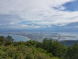 view from monkey mountain in da nang vietnam