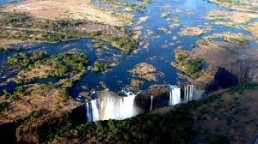 vic falls on an african safai