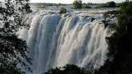 vic falls on a african safai