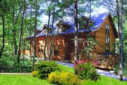 log cabin at branson camping