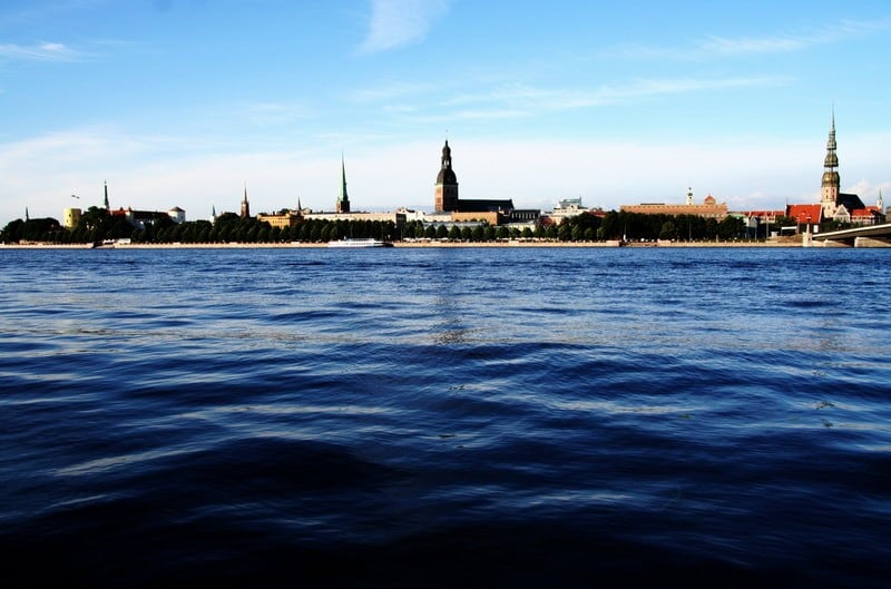 riga latvia river view