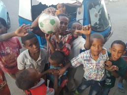 Harar kids withh a new ball