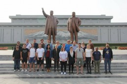 north korea group shot